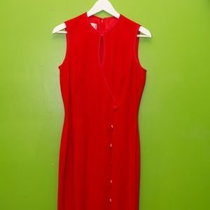 VINTAGE Ann Tjian For KENAR Sexy Fitted Red Dress